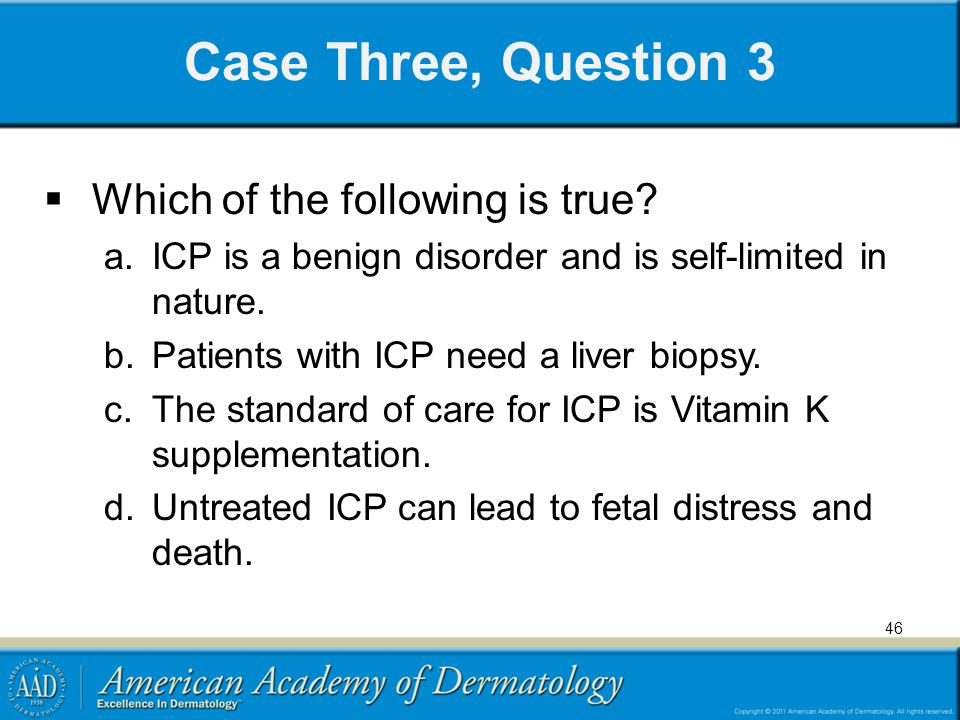 Case Three, Question 3 Which of the following is true