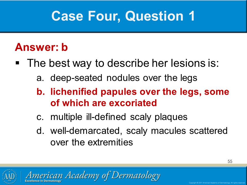 Case Four, Question 1 Answer: b