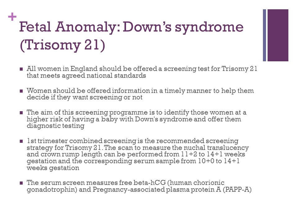 Fetal Anomaly: Down's syndrome (Trisomy 21)