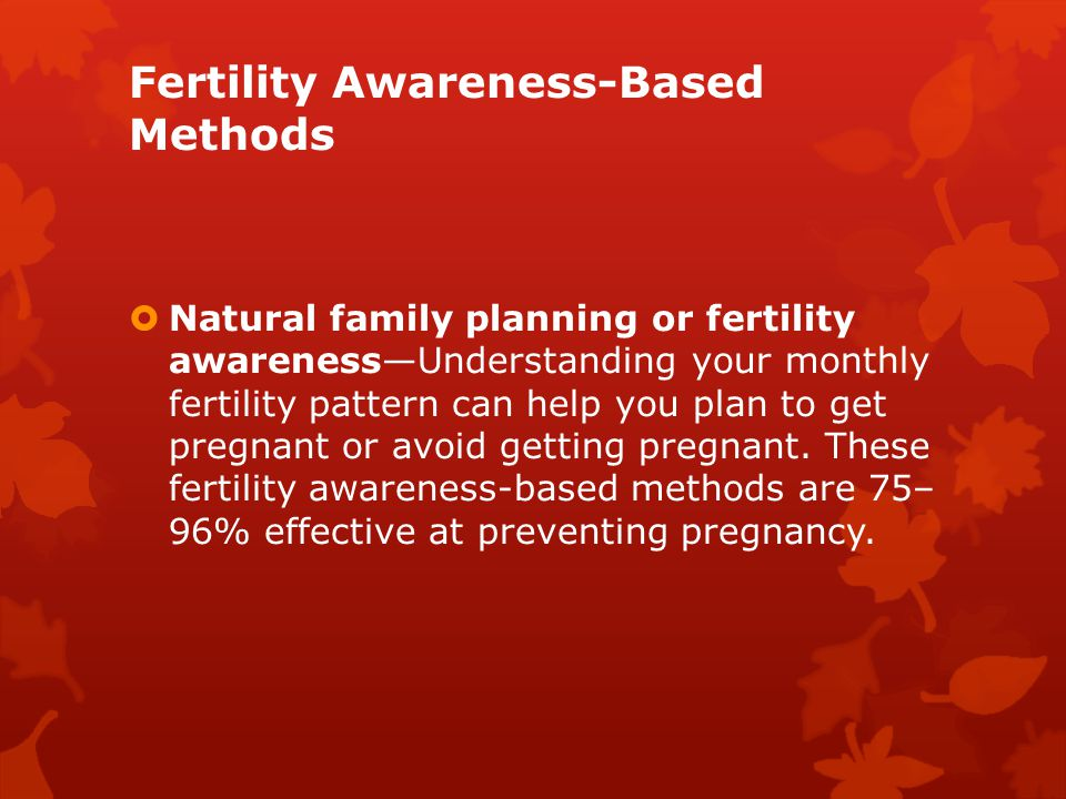 Fertility Awareness-Based Methods
