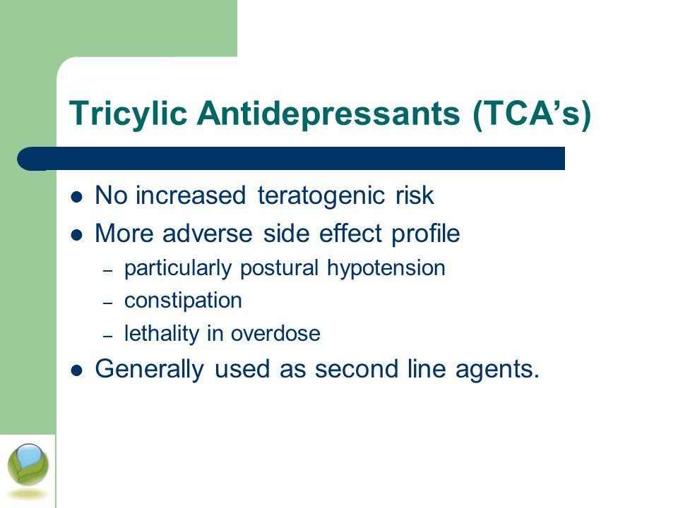 Tricylic Antidepressants (TCA's)