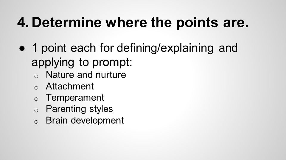 Structure the points in logical order.