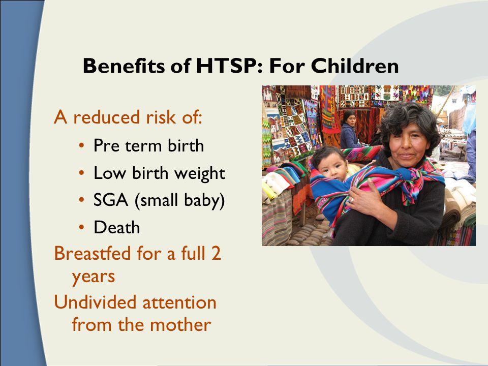 Benefits of HTSP: For Children