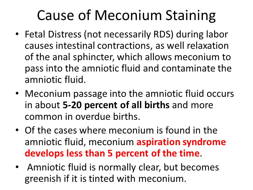 Cause of Meconium Staining