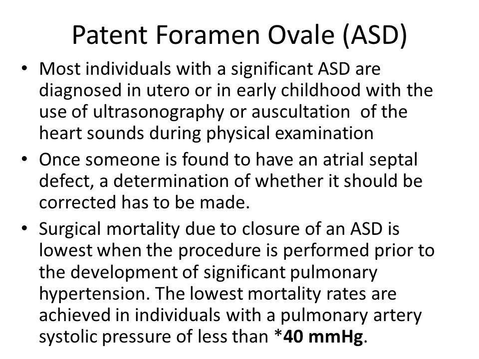 Patent Foramen Ovale (ASD)