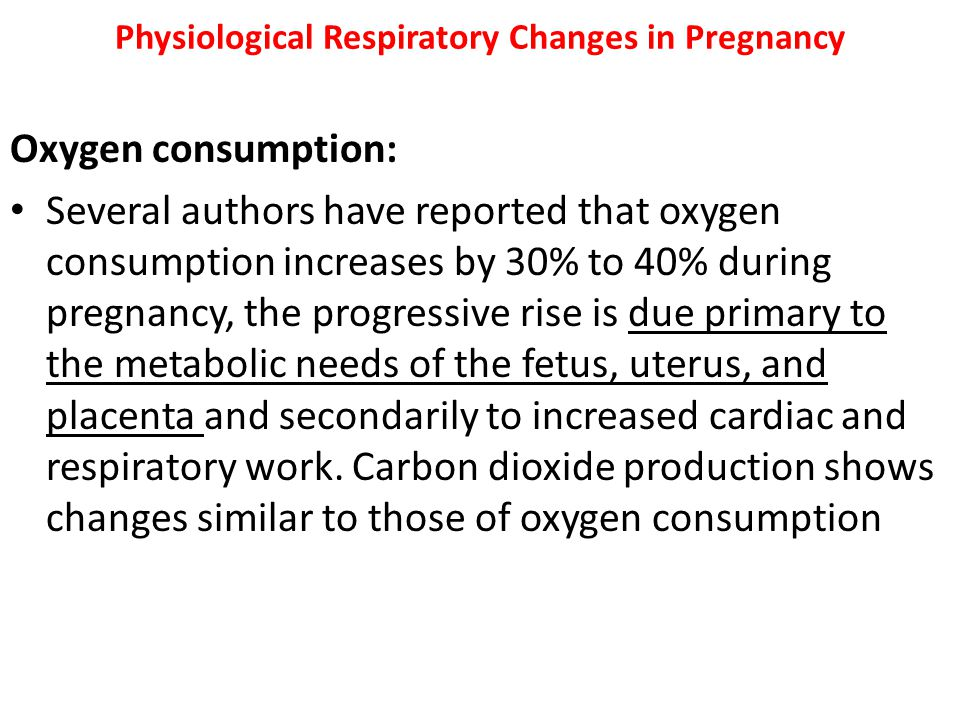 Physiological Respiratory Changes in Pregnancy