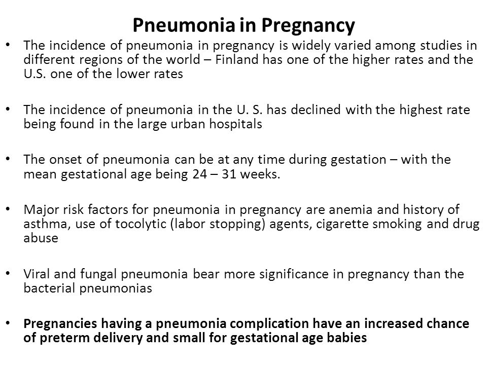Pneumonia in Pregnancy