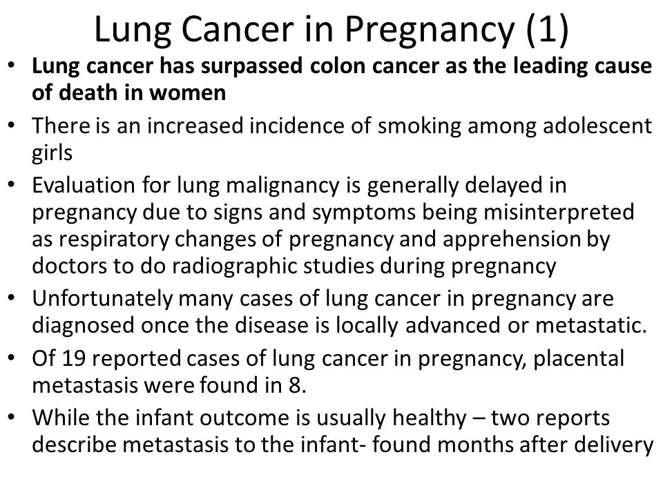 Lung Cancer in Pregnancy (1)