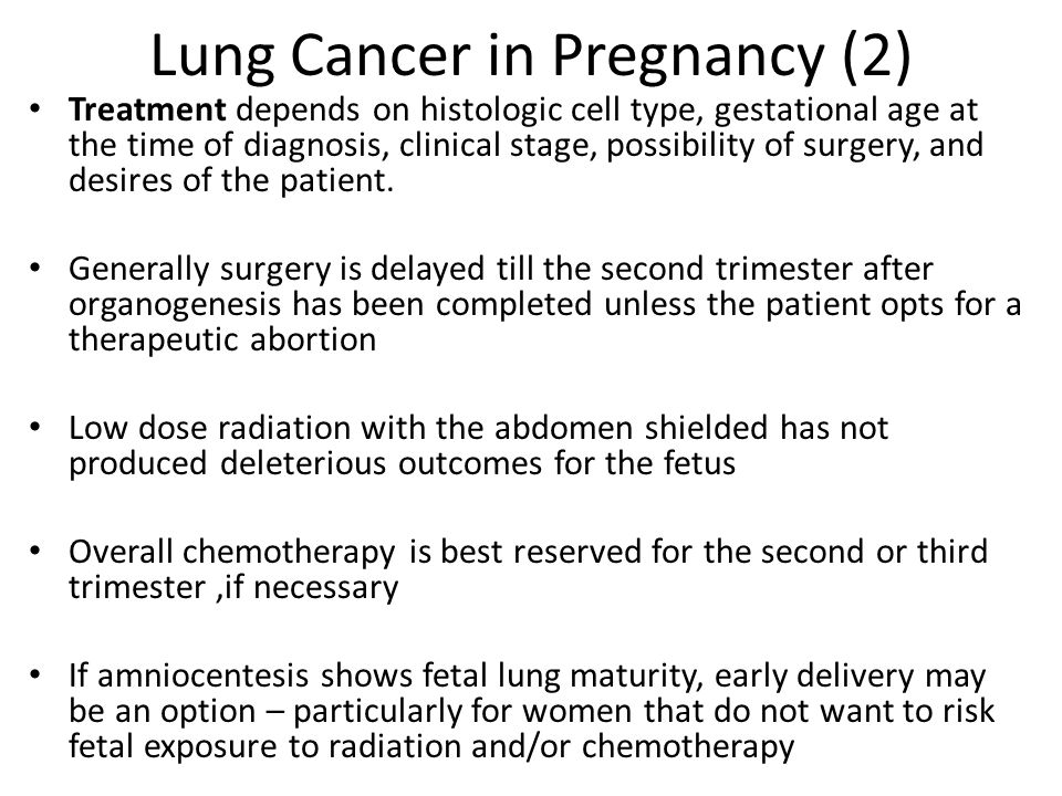 Lung Cancer in Pregnancy (2)
