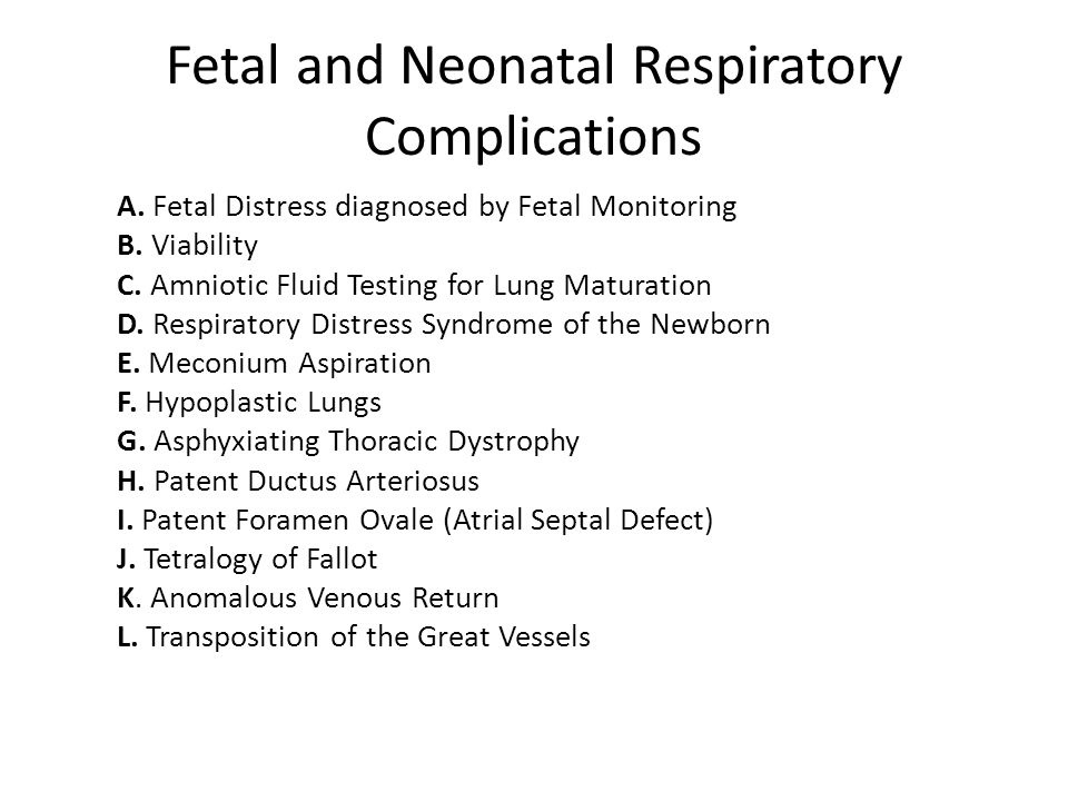 Fetal and Neonatal Respiratory Complications