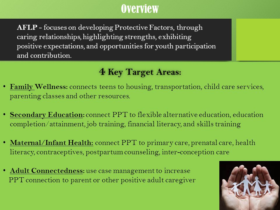 4 Key Target Areas: Overview