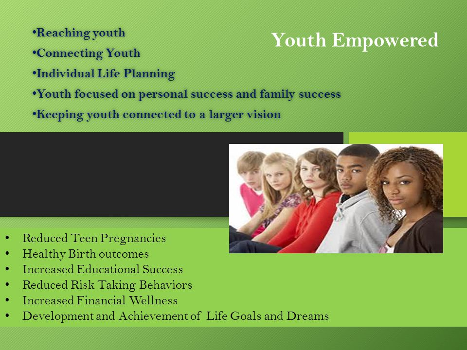 Youth Empowered Reaching youth Connecting Youth
