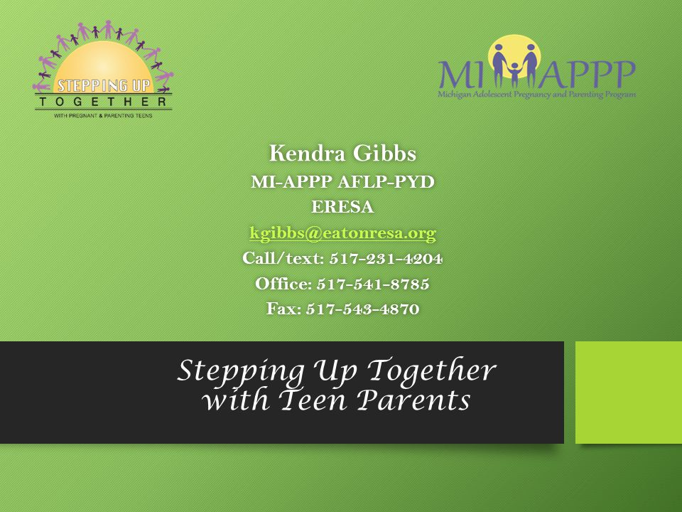 Stepping Up Together with Teen Parents
