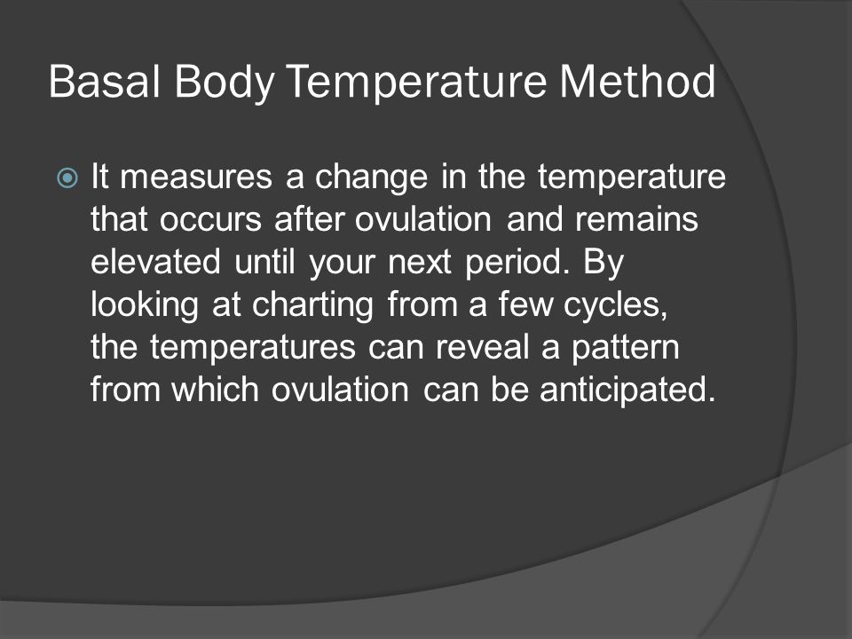 Basal Body Temperature Method