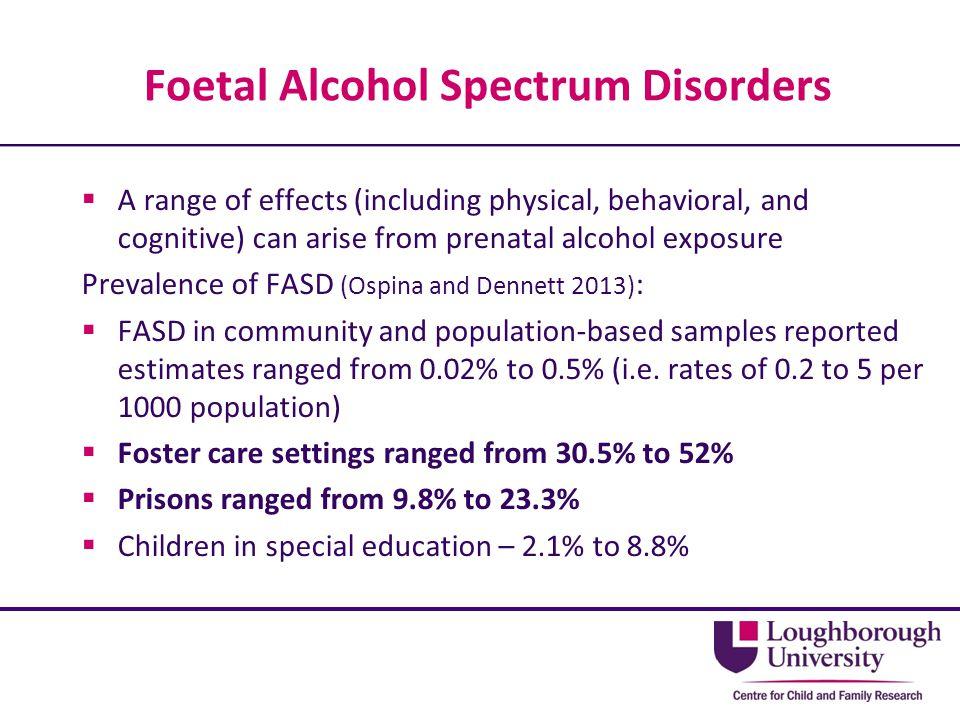 Foetal Alcohol Spectrum Disorders