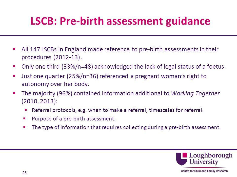 LSCB: Pre-birth assessment guidance