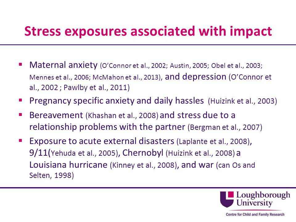 Stress exposures associated with impact