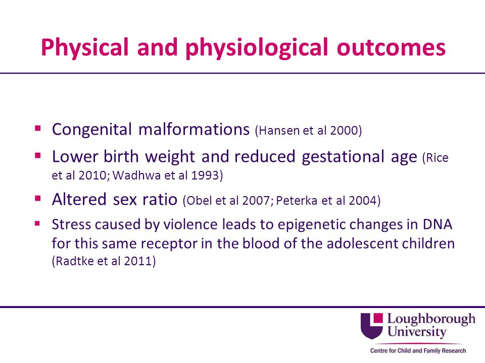 Physical and physiological outcomes