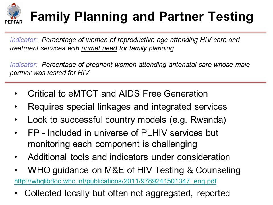 Family Planning and Partner Testing