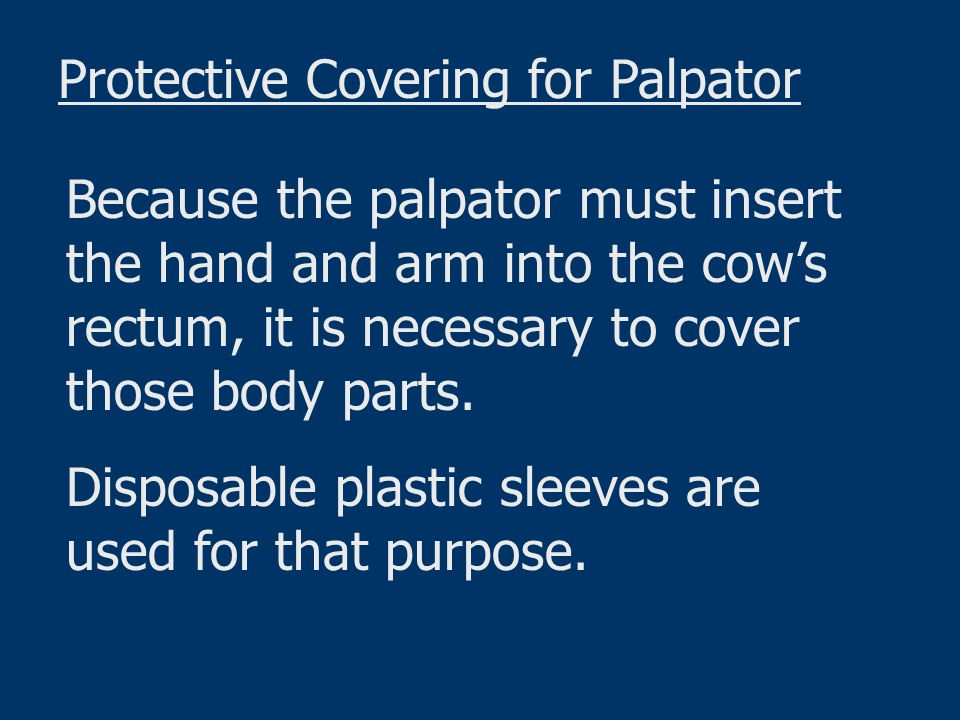 Protective Covering for Palpator