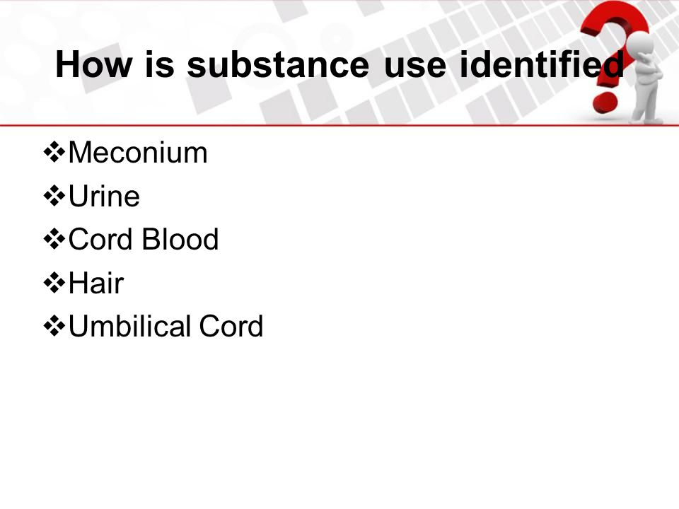 How is substance use identified