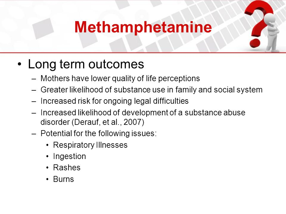 Methamphetamine Long term outcomes