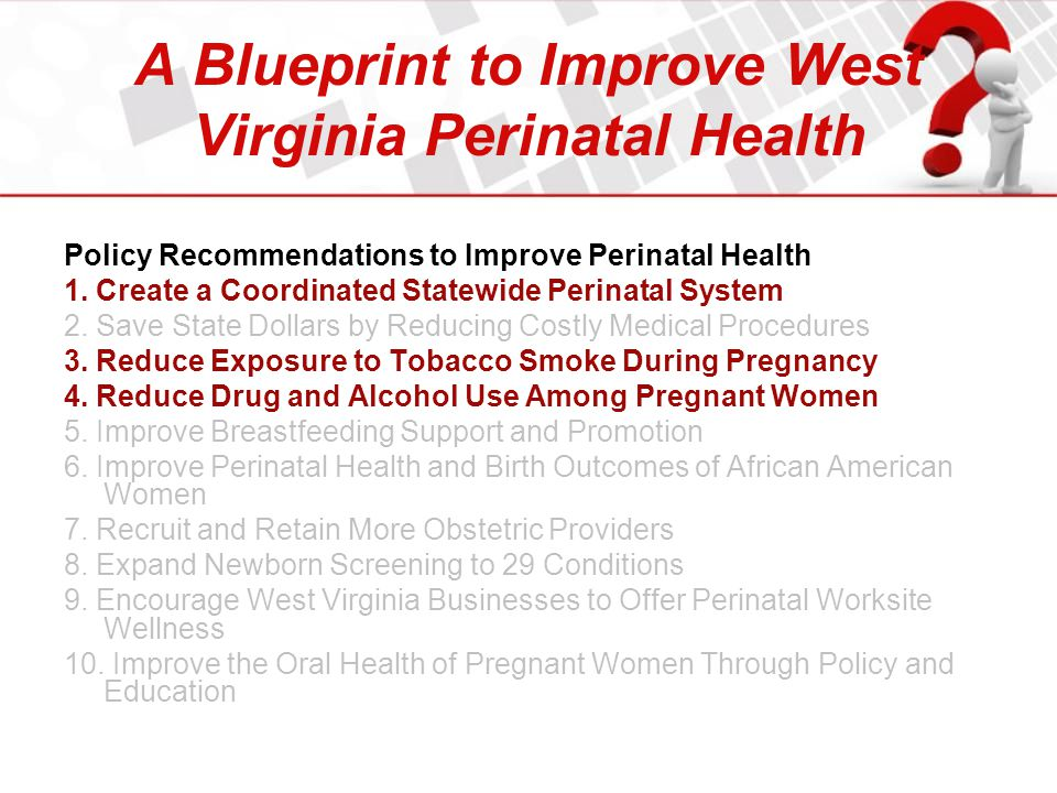 A Blueprint to Improve West Virginia Perinatal Health