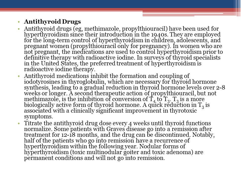 Antithyroid Drugs