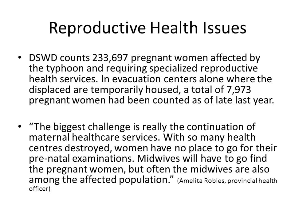 Reproductive Health Issues