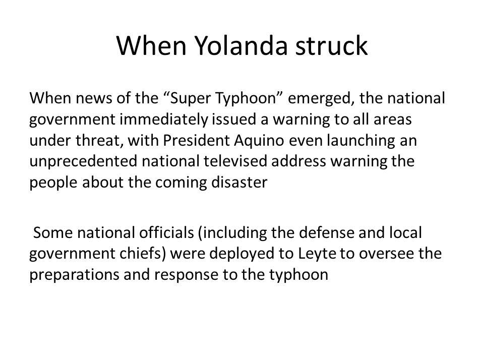 When Yolanda struck