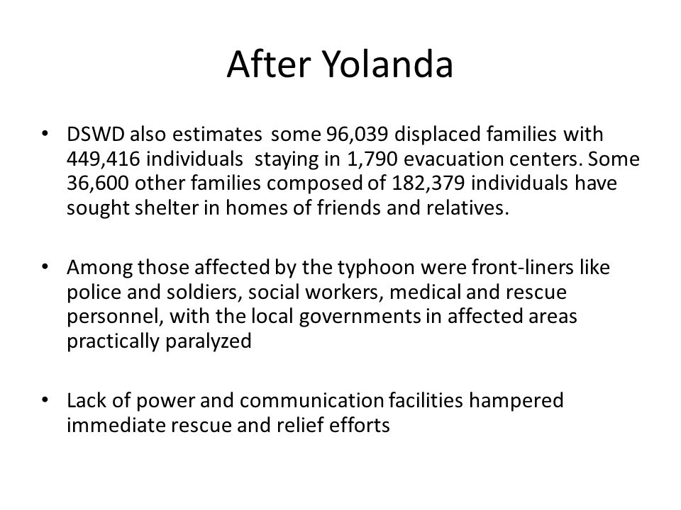 After Yolanda