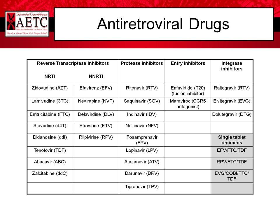 Antiretroviral Drugs Enfuvirtide (T20) (fusion inhibitor)