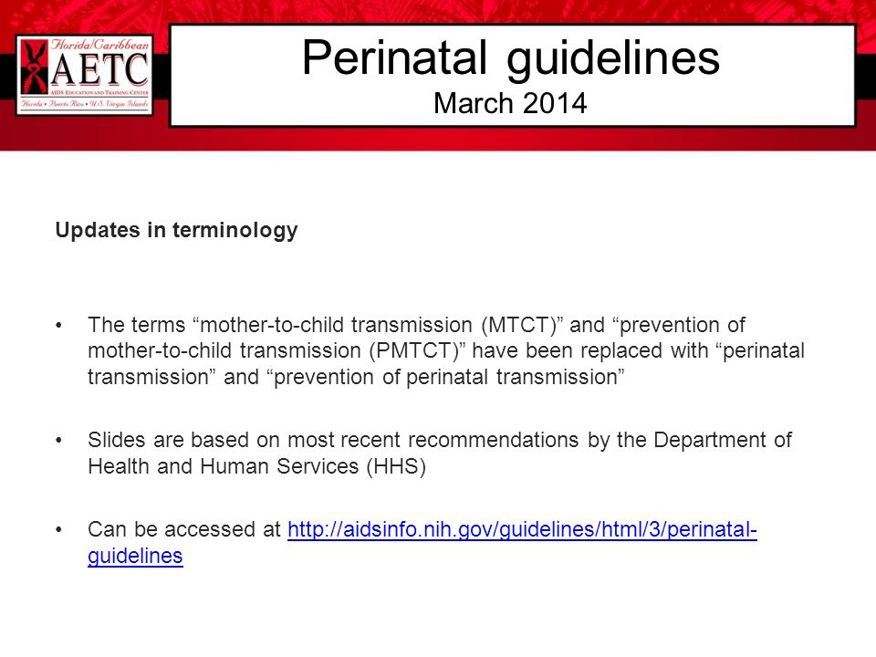 Perinatal guidelines March 2014