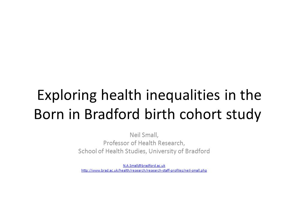 Exploring health inequalities in the Born in Bradford birth cohort study
