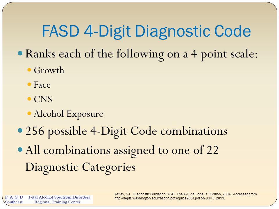 FASD 4-Digit Diagnostic Code