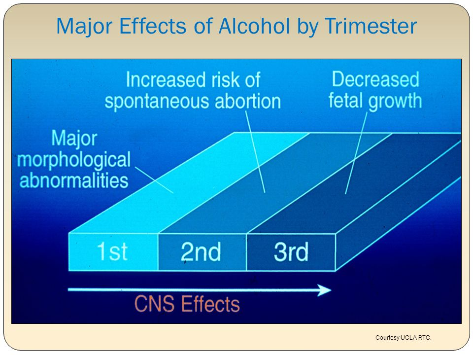 Major Effects of Alcohol by Trimester