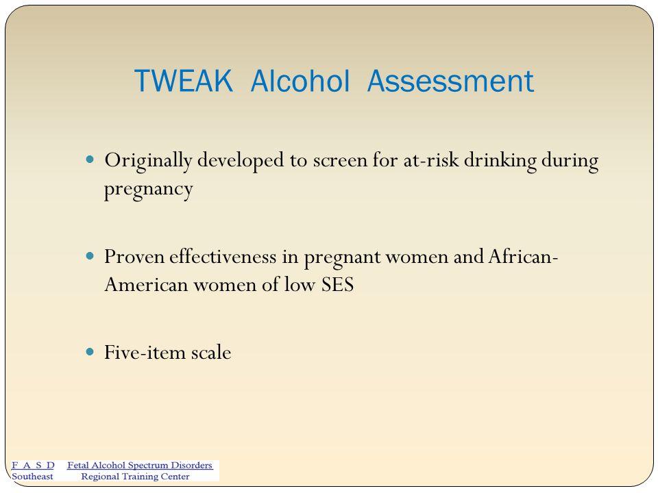 TWEAK Alcohol Assessment