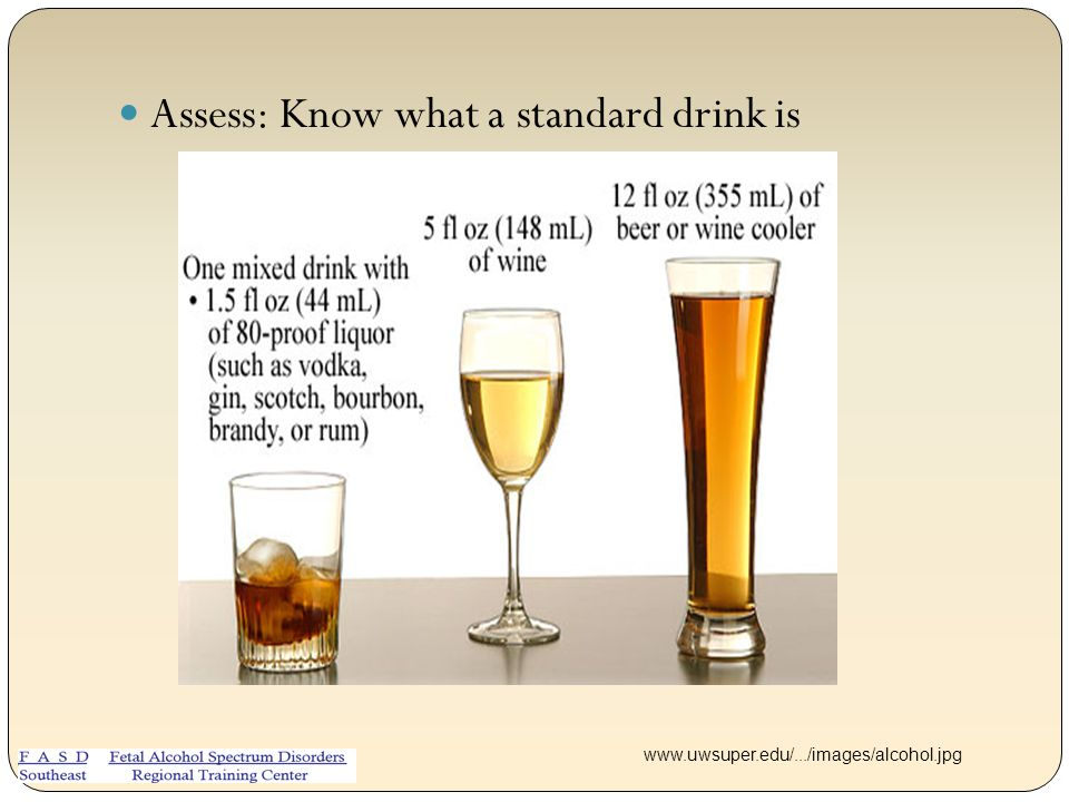 Assess: Know what a standard drink is