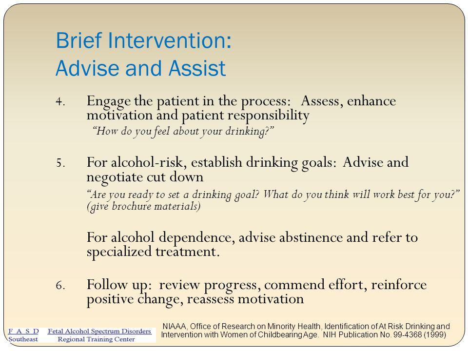 Brief Intervention: Advise and Assist