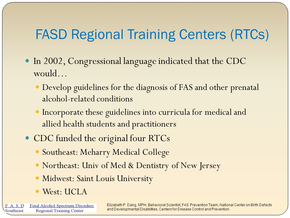 FASD Regional Training Centers (RTCs)