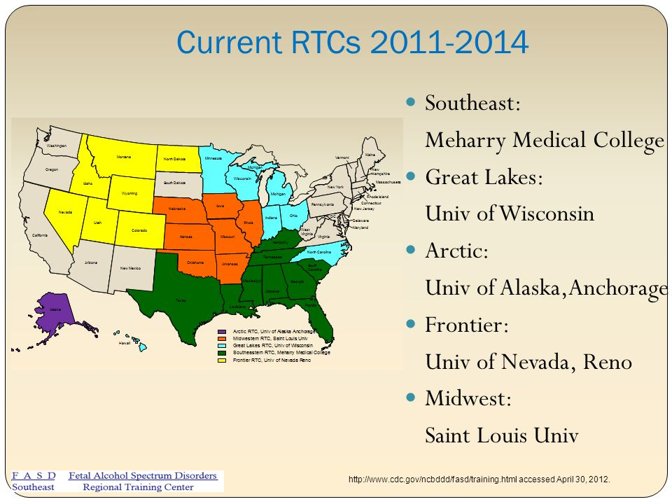 Current RTCs 2011-2014 Southeast: Meharry Medical College Great Lakes: