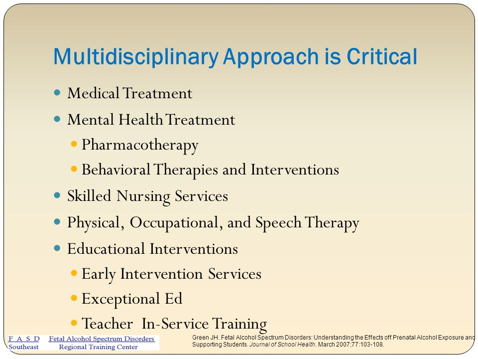 Multidisciplinary Approach is Critical
