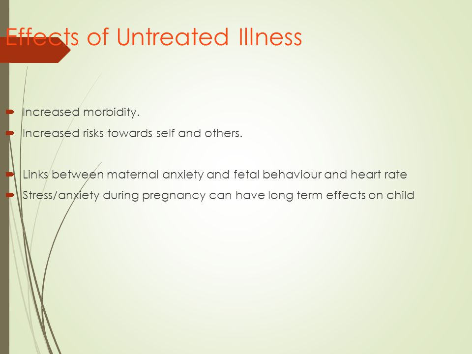 Effects of Untreated Illness