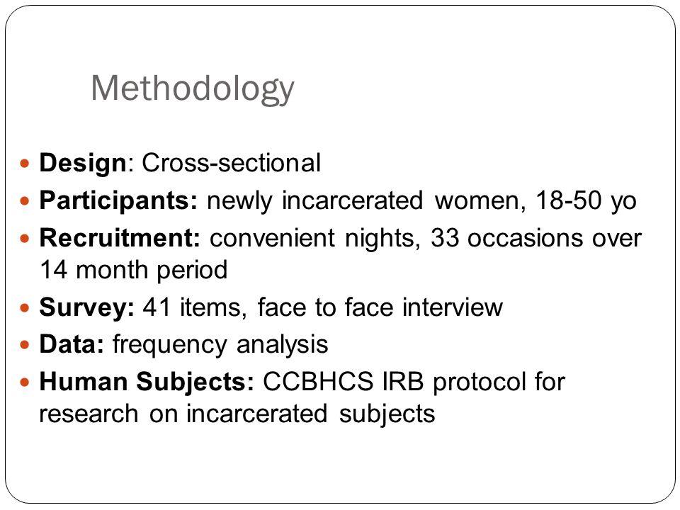 Methodology Design: Cross-sectional
