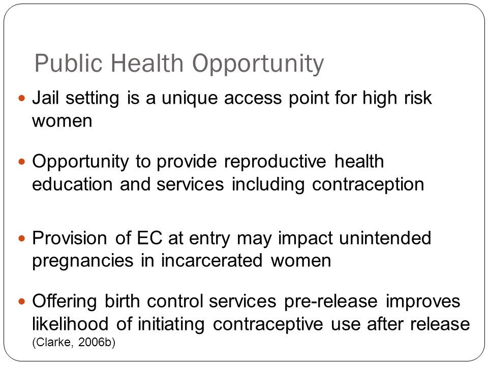 Public Health Opportunity