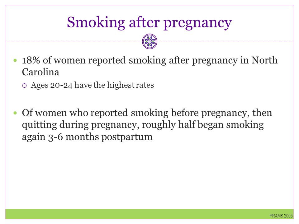 Smoking after pregnancy