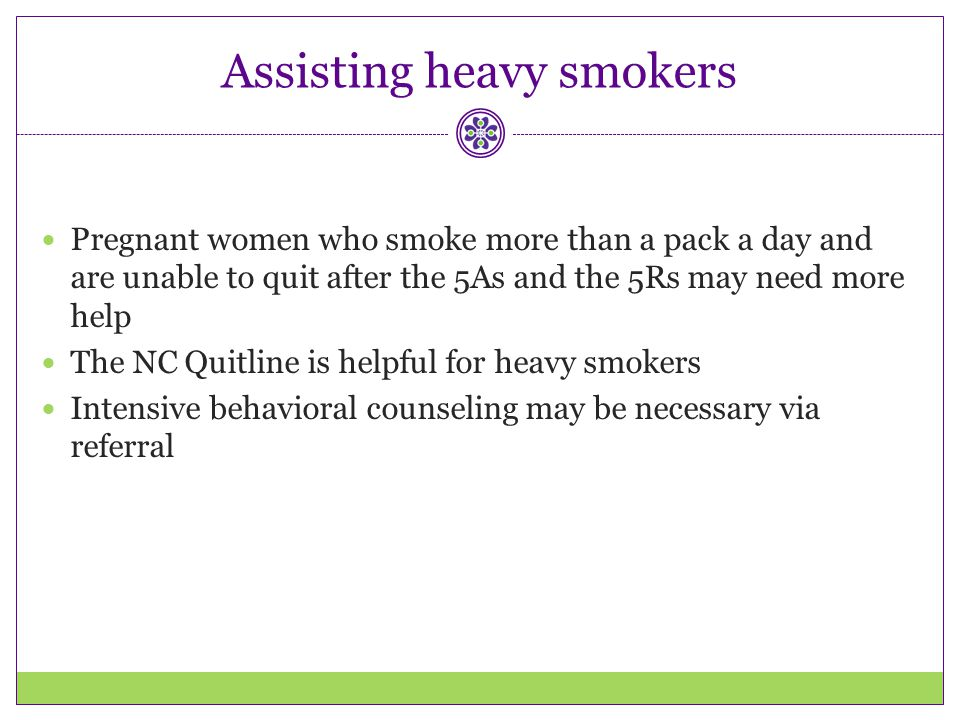 Assisting heavy smokers