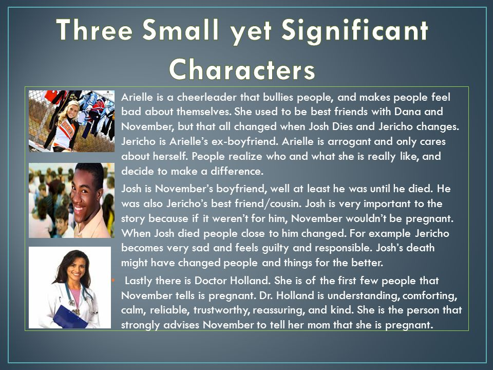 Three Small yet Significant Characters