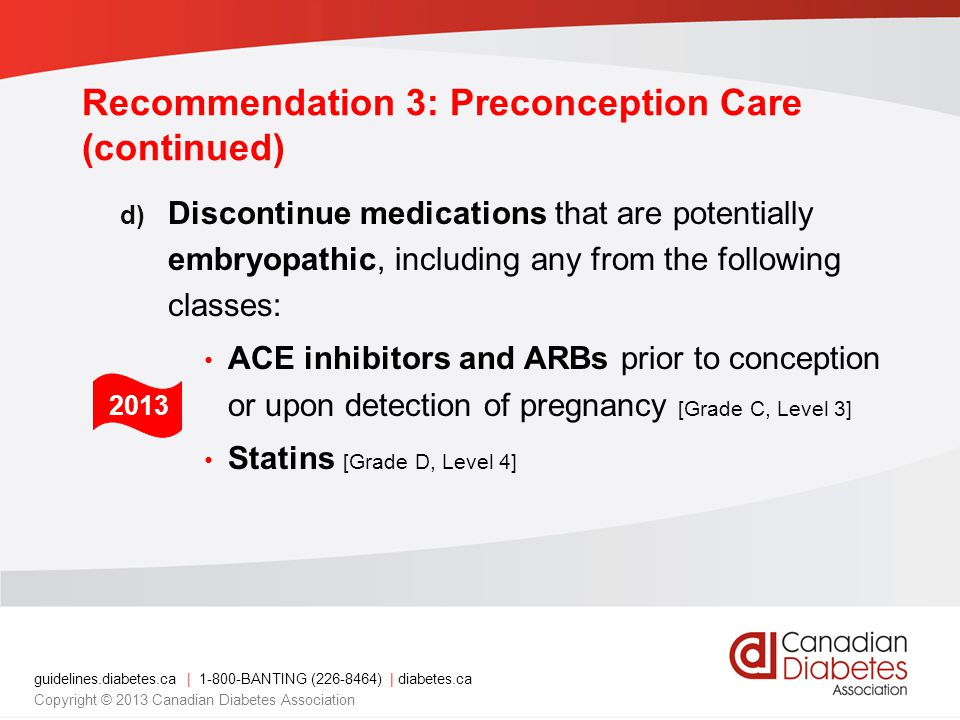 Recommendation 3: Preconception Care (continued)