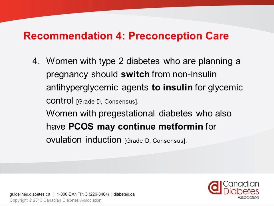 Recommendation 4: Preconception Care
